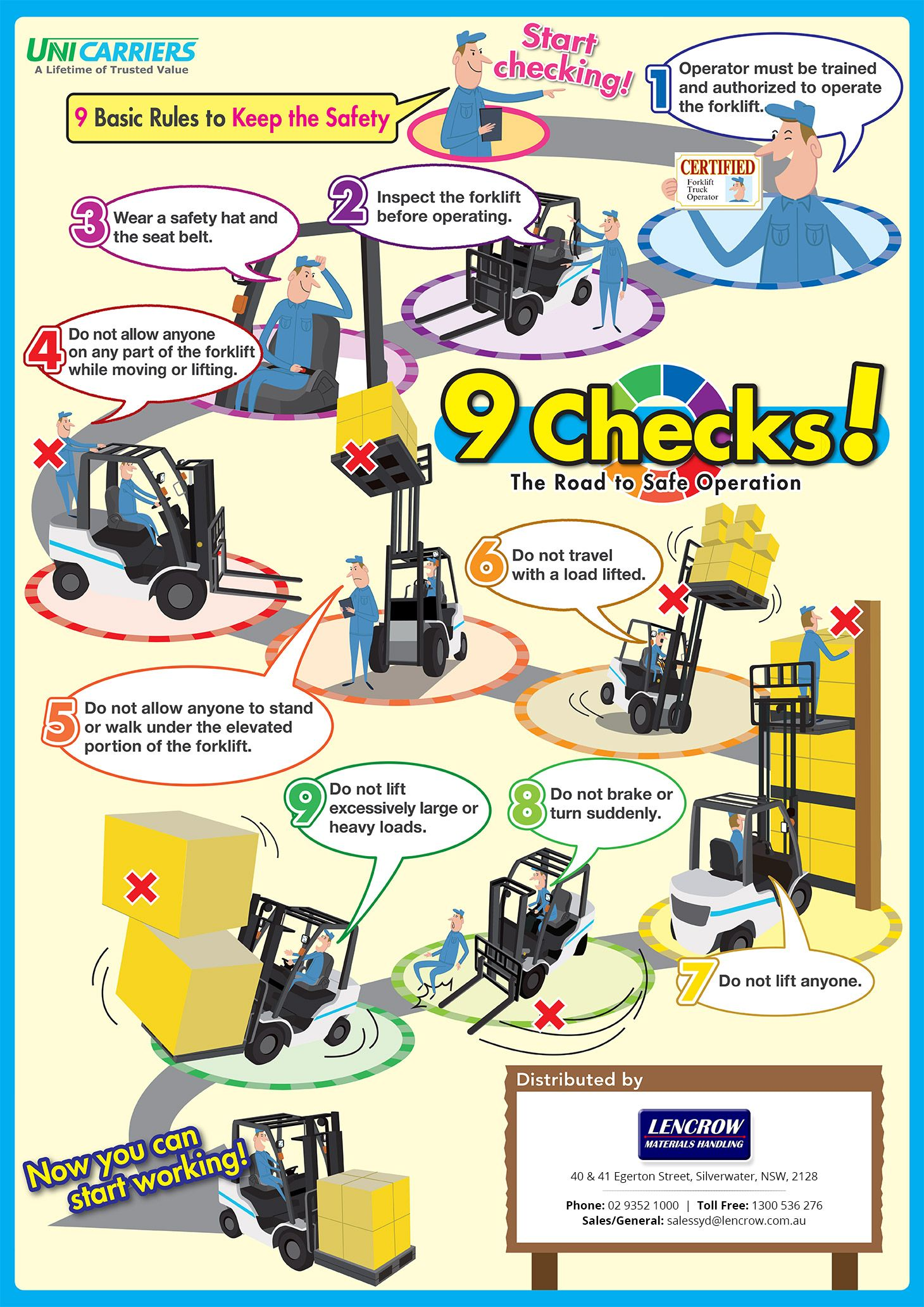 Forklift Safety Tips 9 Basic Rules To Keep The Safety