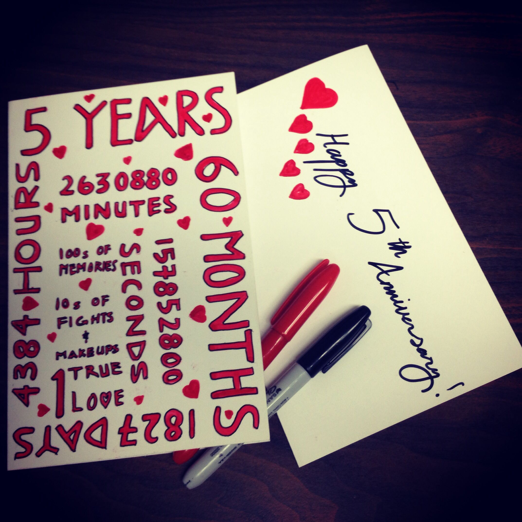 5 year Anniversary Card by CARDlikeyoucare