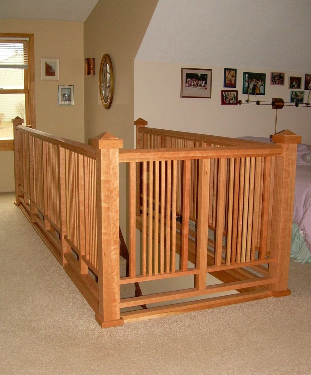 Arts And Crafts Stair Railing Could Use This Style | Craftsman Style Stair Railing
