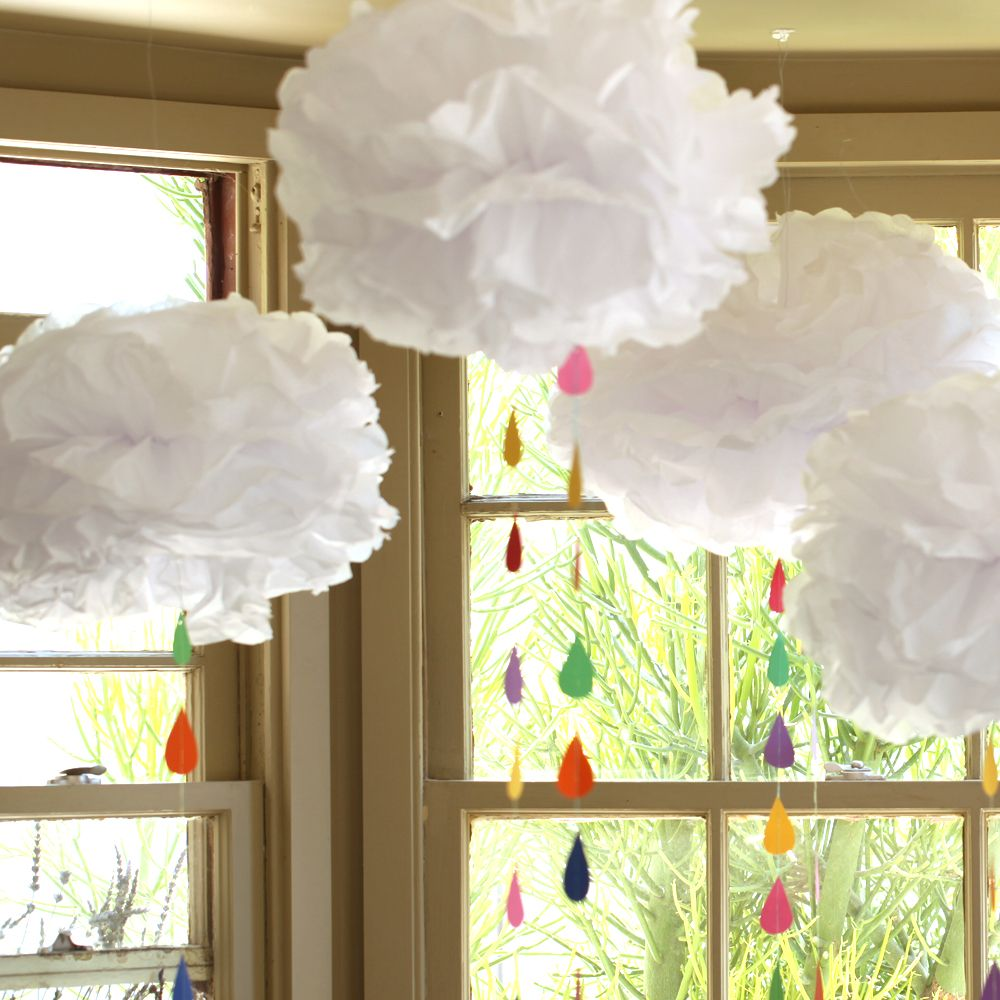 Learn how to make tissue paper clouds and shower someone