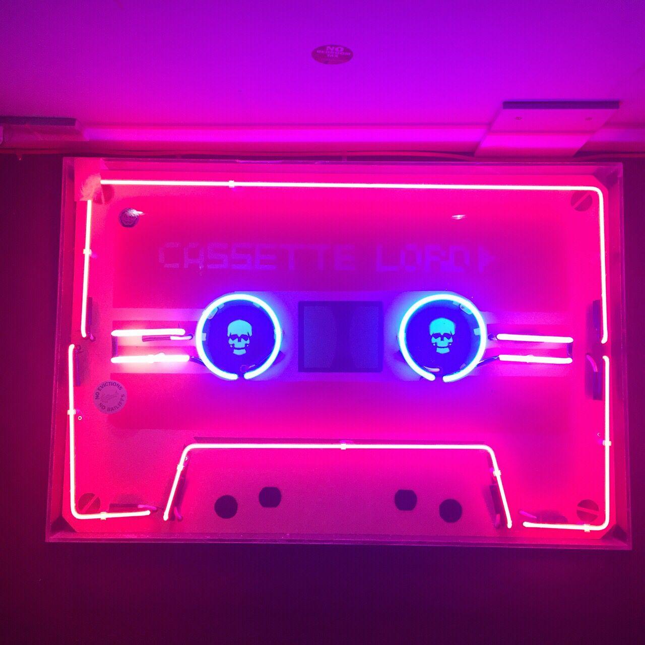 Cassette neon light Signage Pinterest Neon lighting
