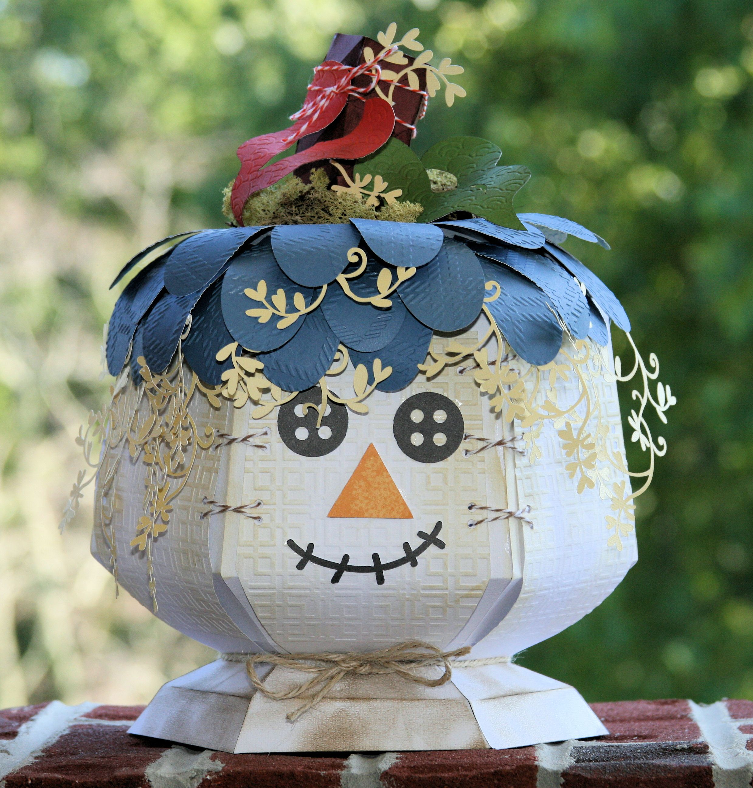 . Pumpkin from a SVG Cuts kit. Another use for the caldron