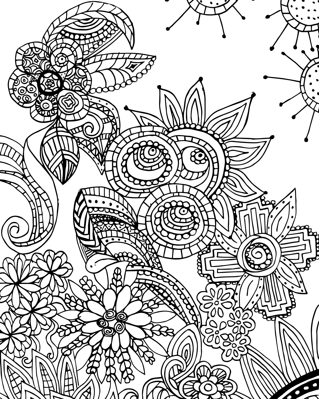 Free Designs To Color 47 Coloring Sheets Voteforverde Flower