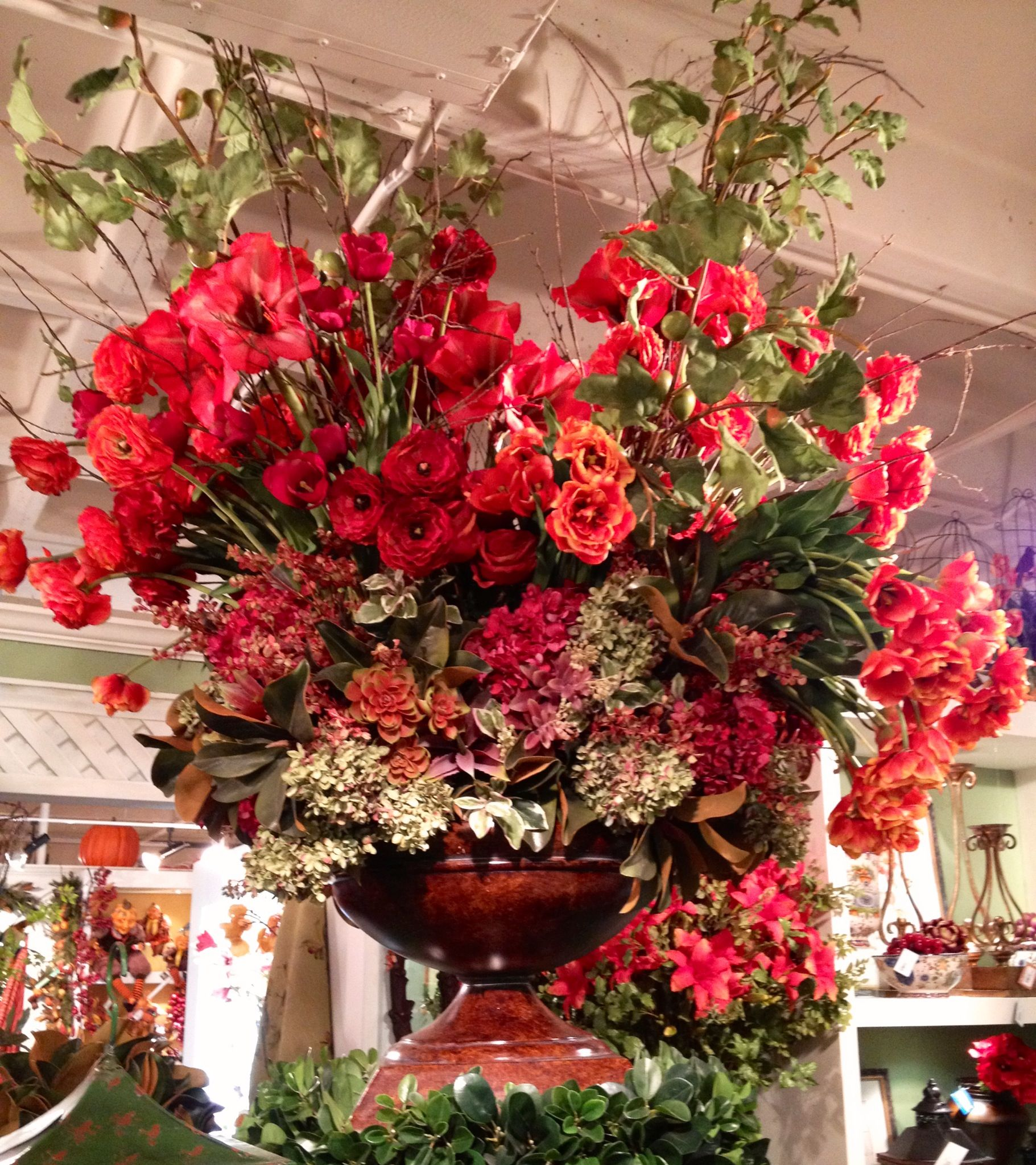 Beautiful large red floral arrangement Grand Scale