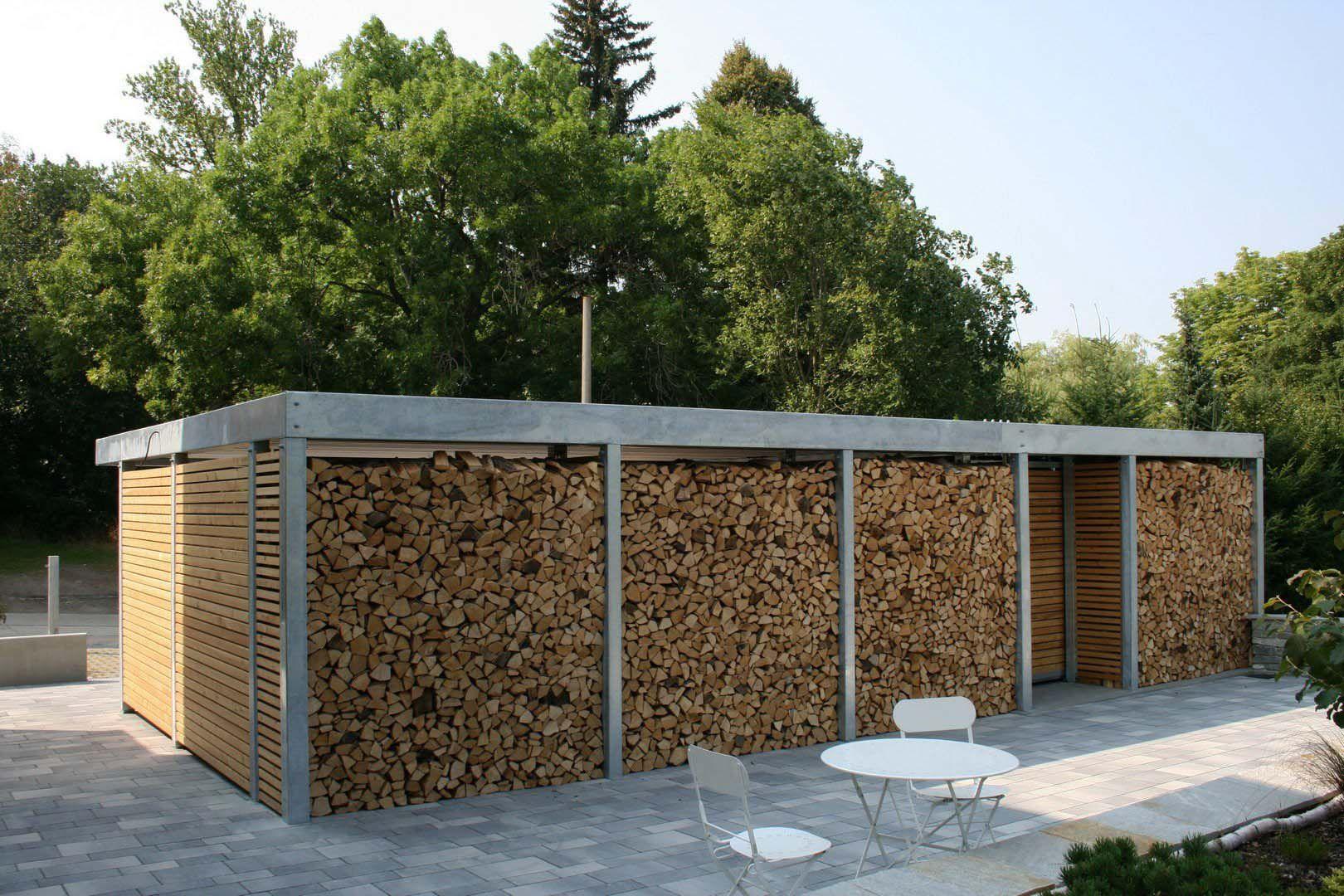 Design Metall Carport aus Holz verzinkt Stahl mit