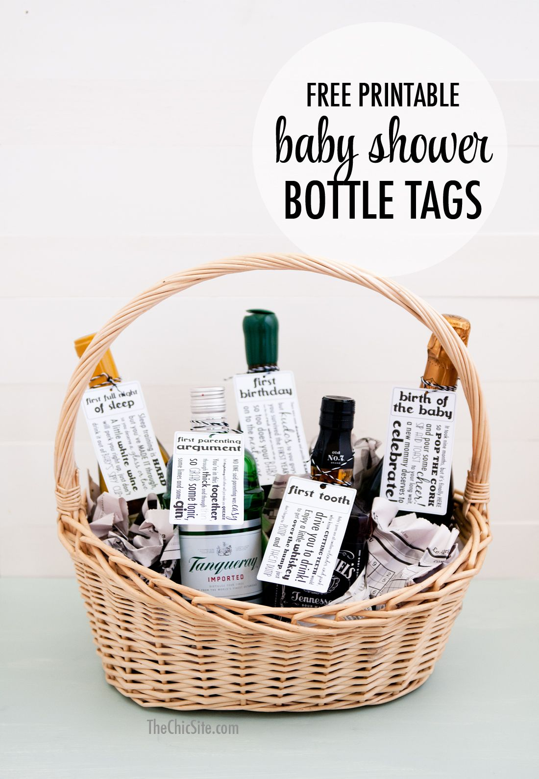 Free Printable baby shower gift tags for new parents