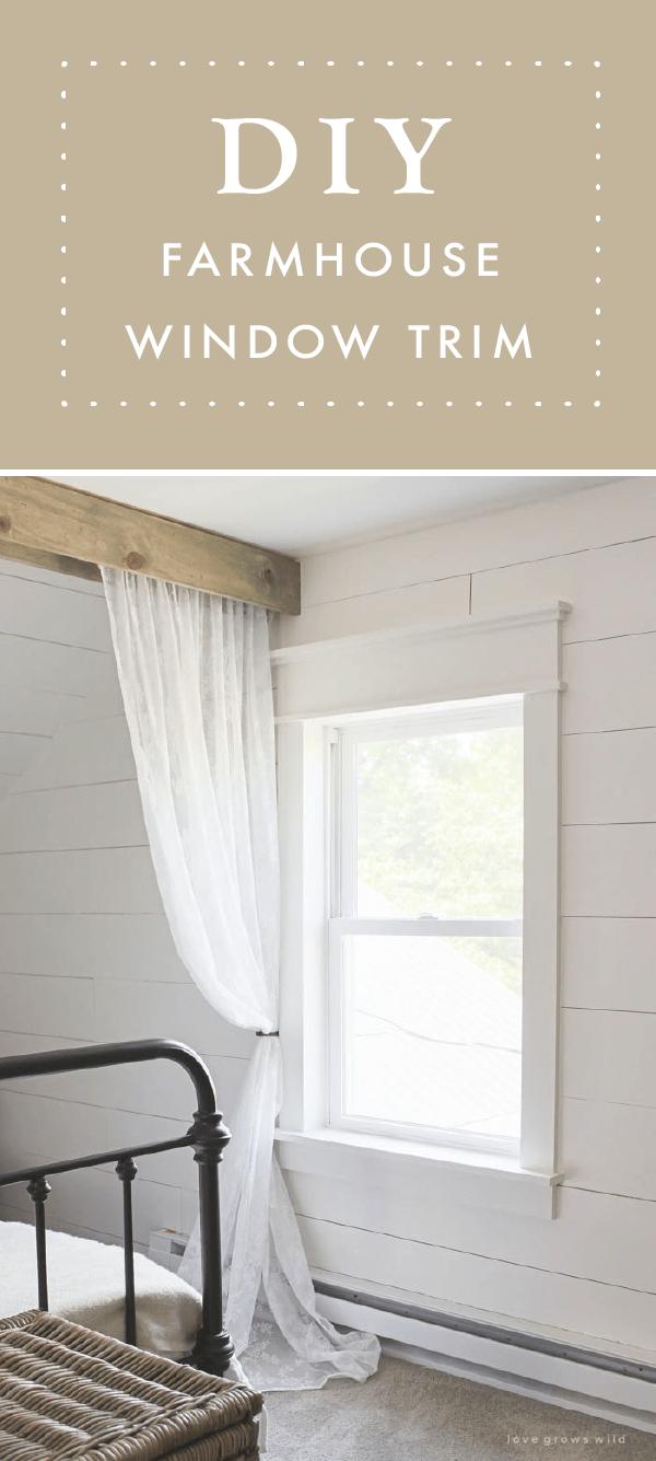 Farmhouse Window Trim Window trims, Rustic feel and Window