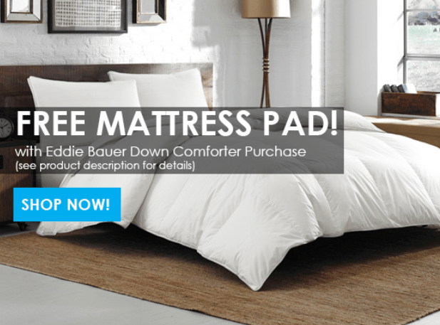Free With Purchase Get Any Size Ed Bauer 400 Tc Luxury Mattress Pad