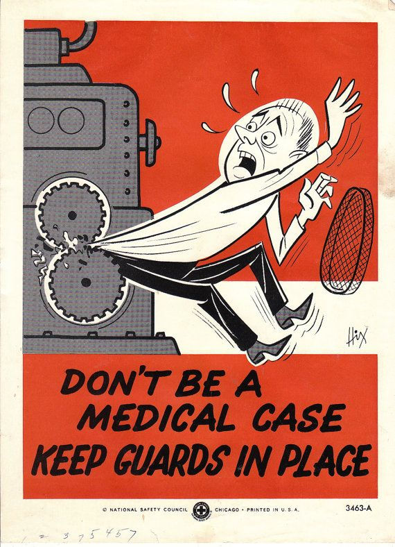 Retro National Safety Council workplace safety poster