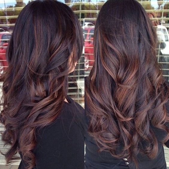 Dark Brown Hair Color With Highlights And Lowlights Cosmetik