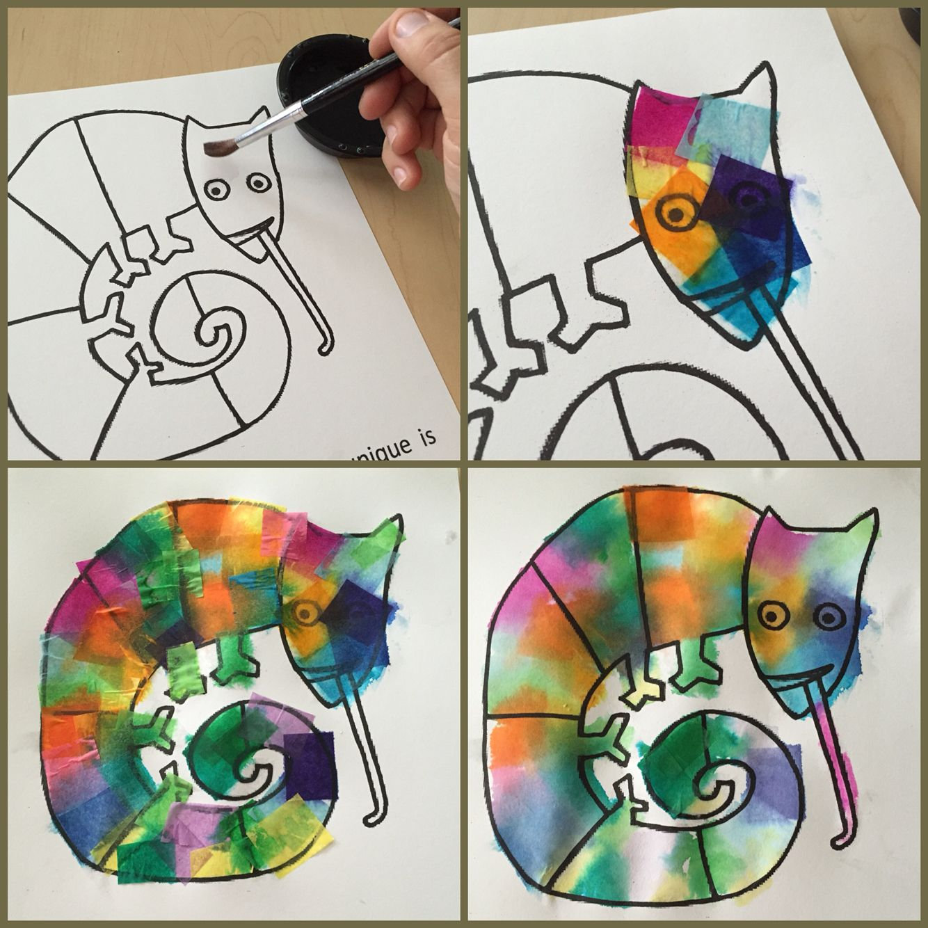 Use With Eric Carle S The Mixed Up Chameleon Bleeding Art