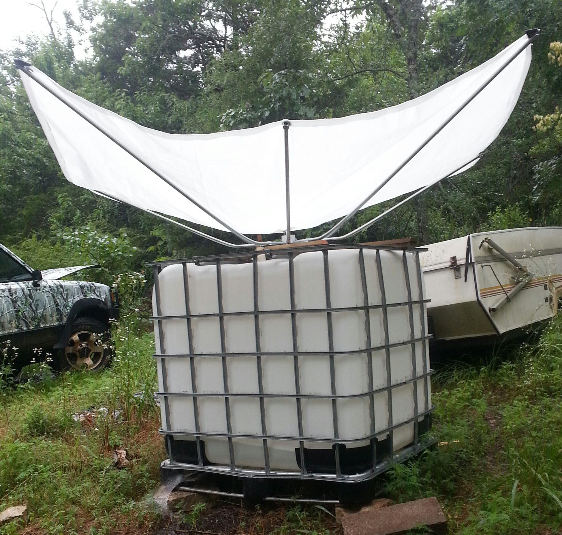 """Customer in Arkansas first to put an 84"""" RainSaucer on a"""