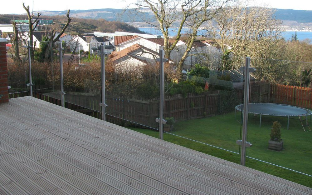 Details about Stainless steel patio glass balustrade