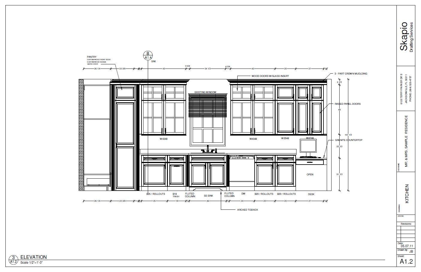 Sample Kitchen Elevation