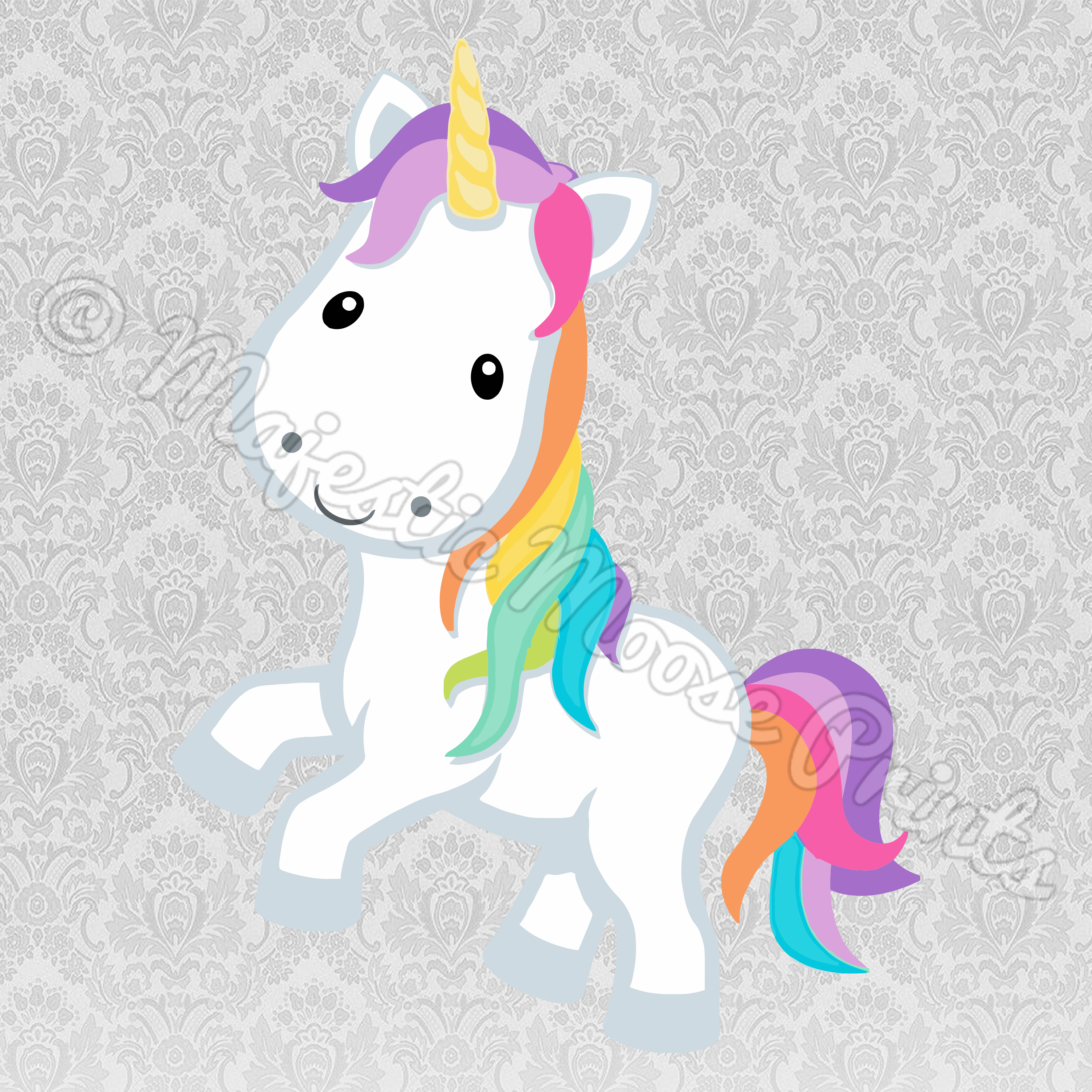 Rainbow Unicorn SVG SVG Files for Cricut Pinterest