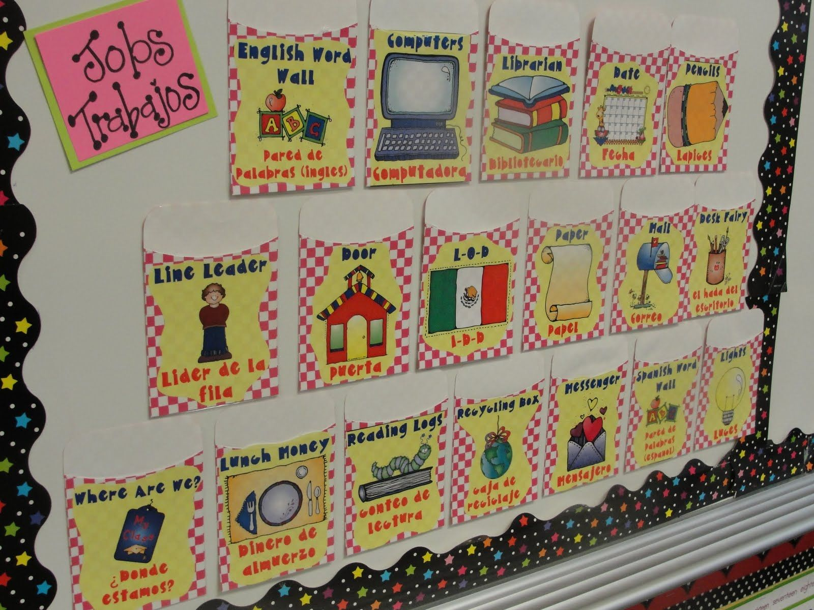 Classroom Jobs In English And Spanish