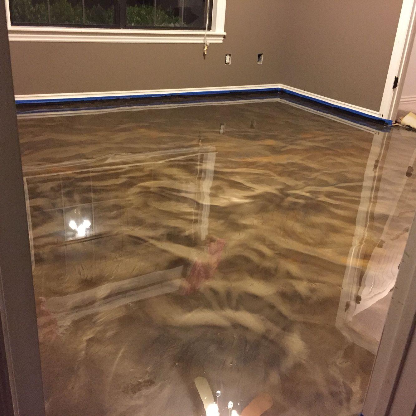My DIY Metallic Epoxy floor Home improvement ideas