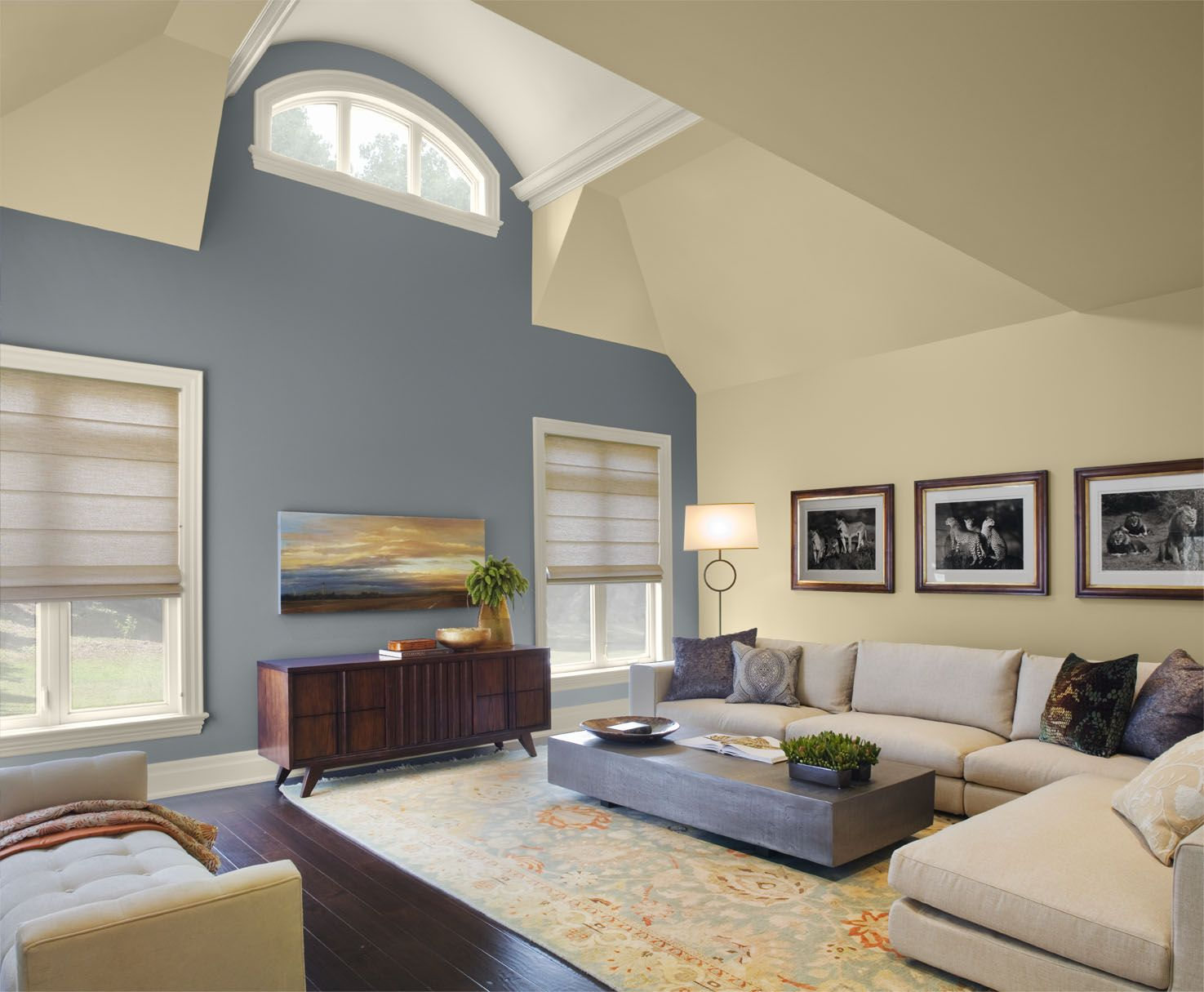 a_ living room 1_nopillow_v6_arch | ceiling detail, navy walls and