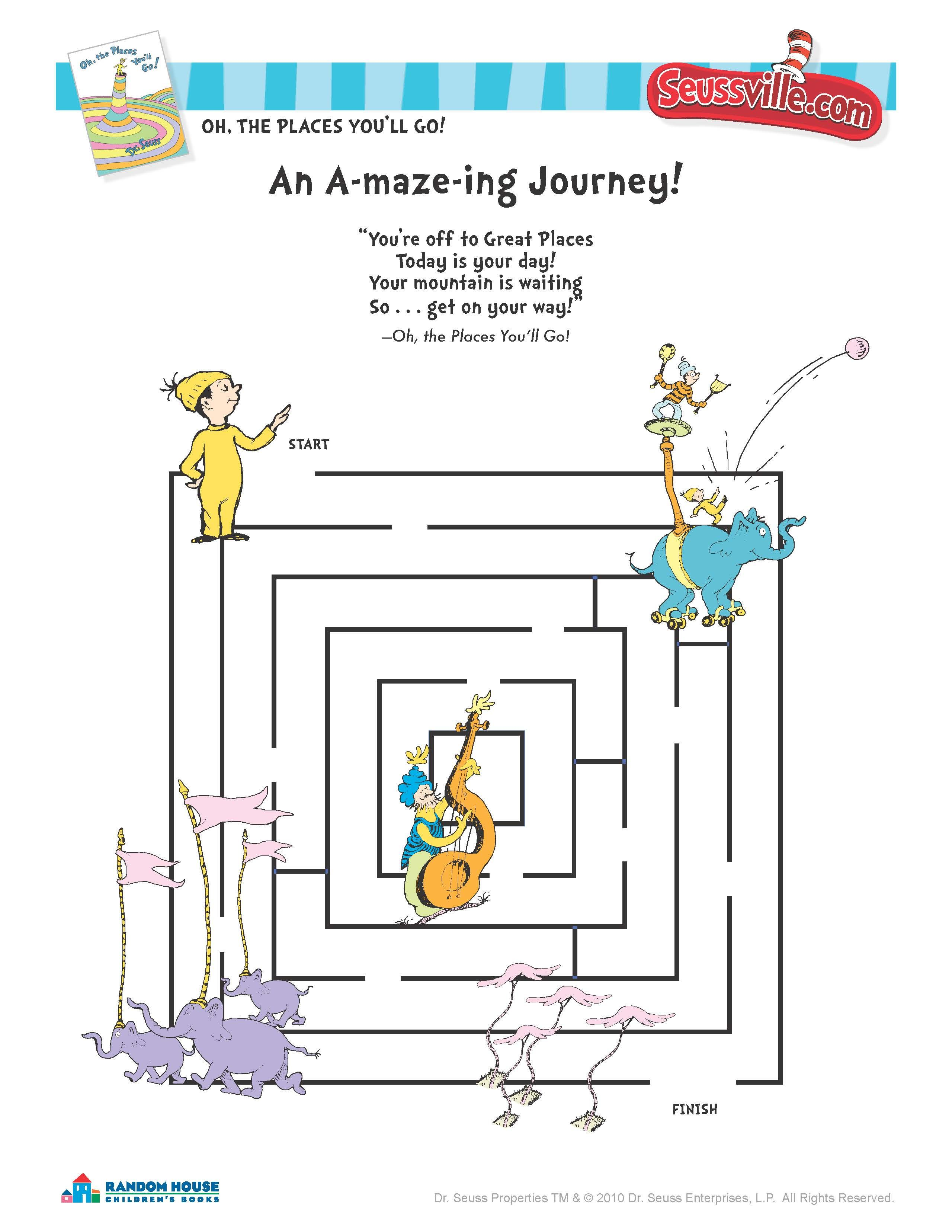 Oh The Places You Ll Go Maze