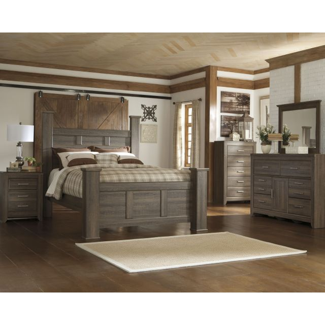 Signature Design by Ashley Juararo Dark Brown Poster Bed by