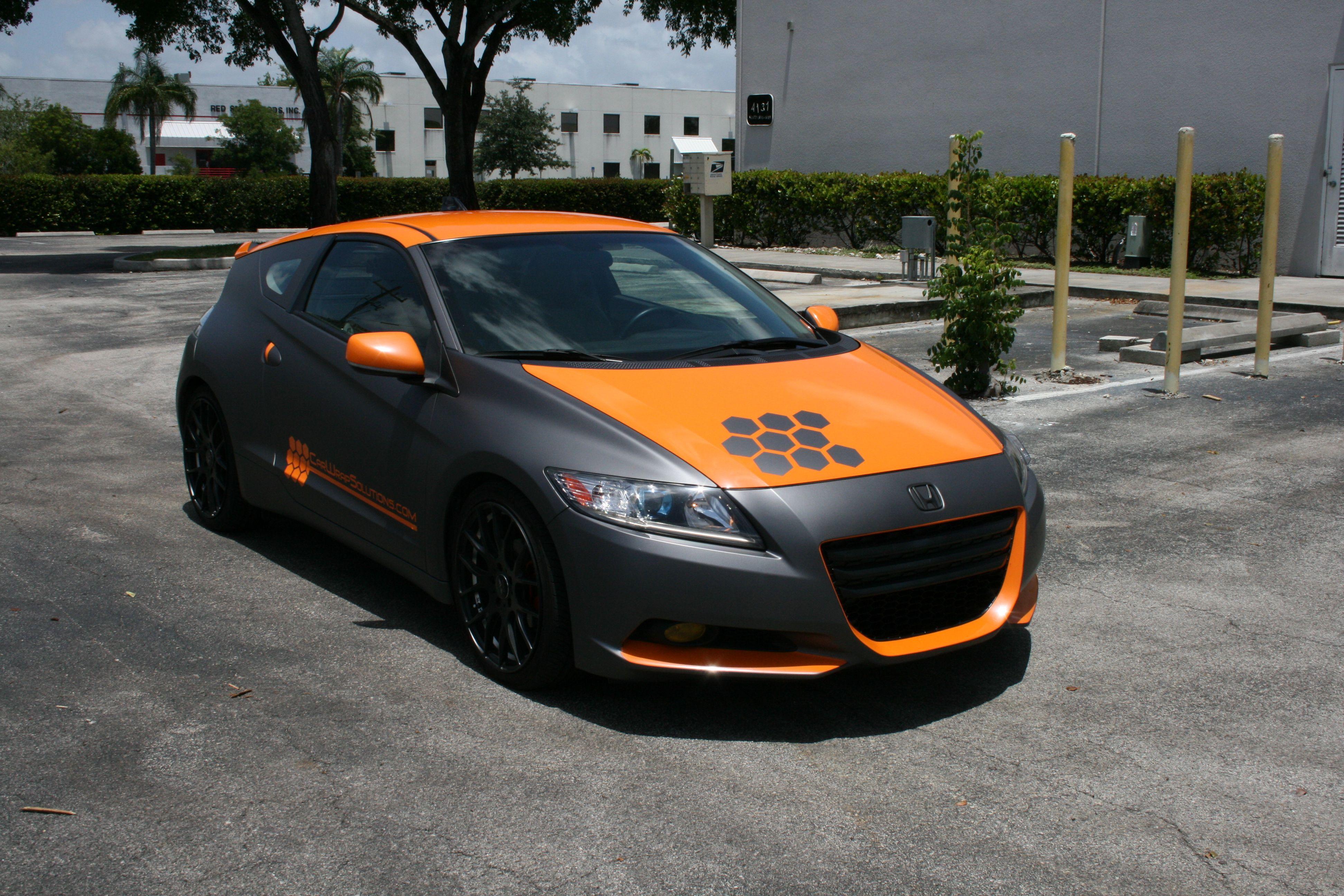 Custom Honda CRZ Miami Florida. 3M Matte Grey and Glossy