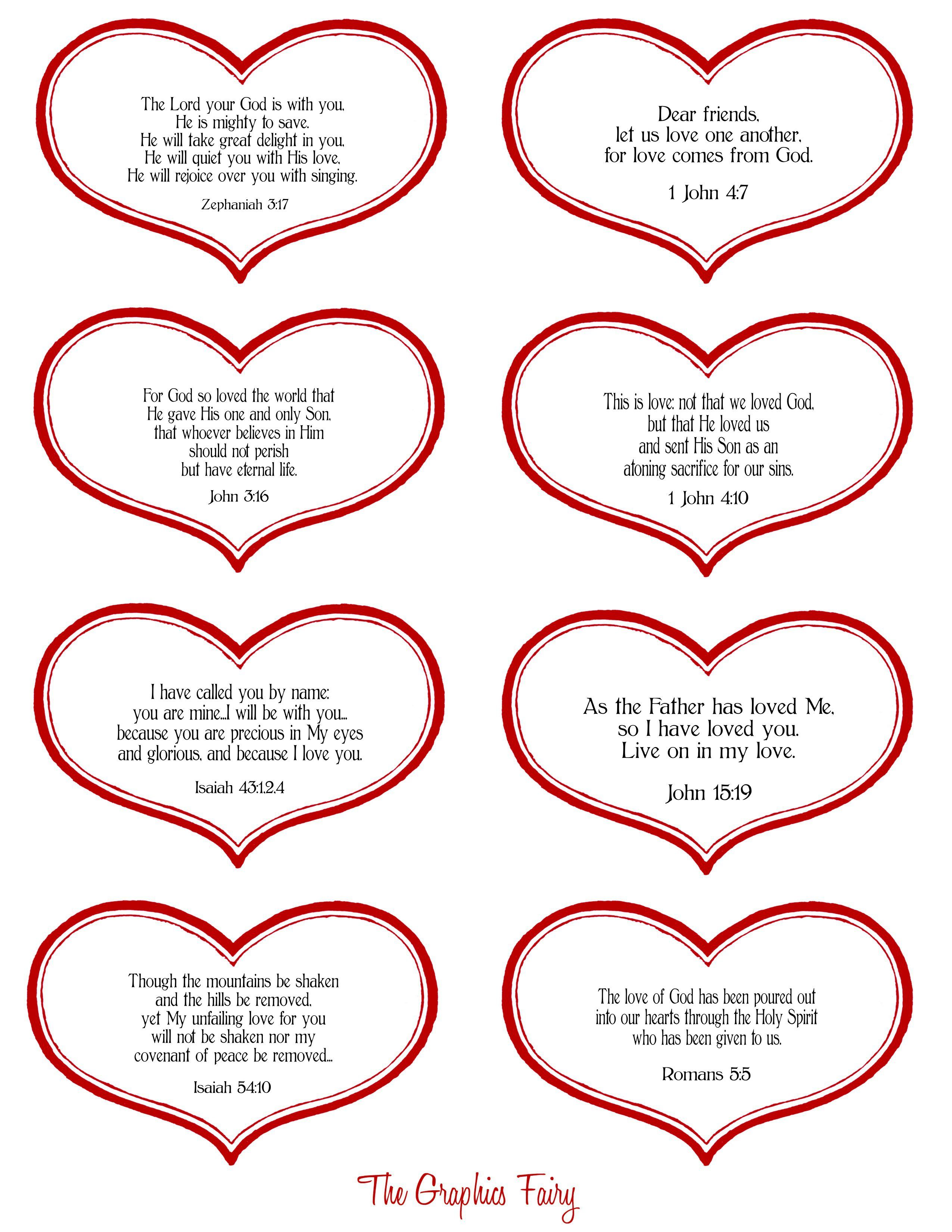 Valentine Tags 1 With Scripture