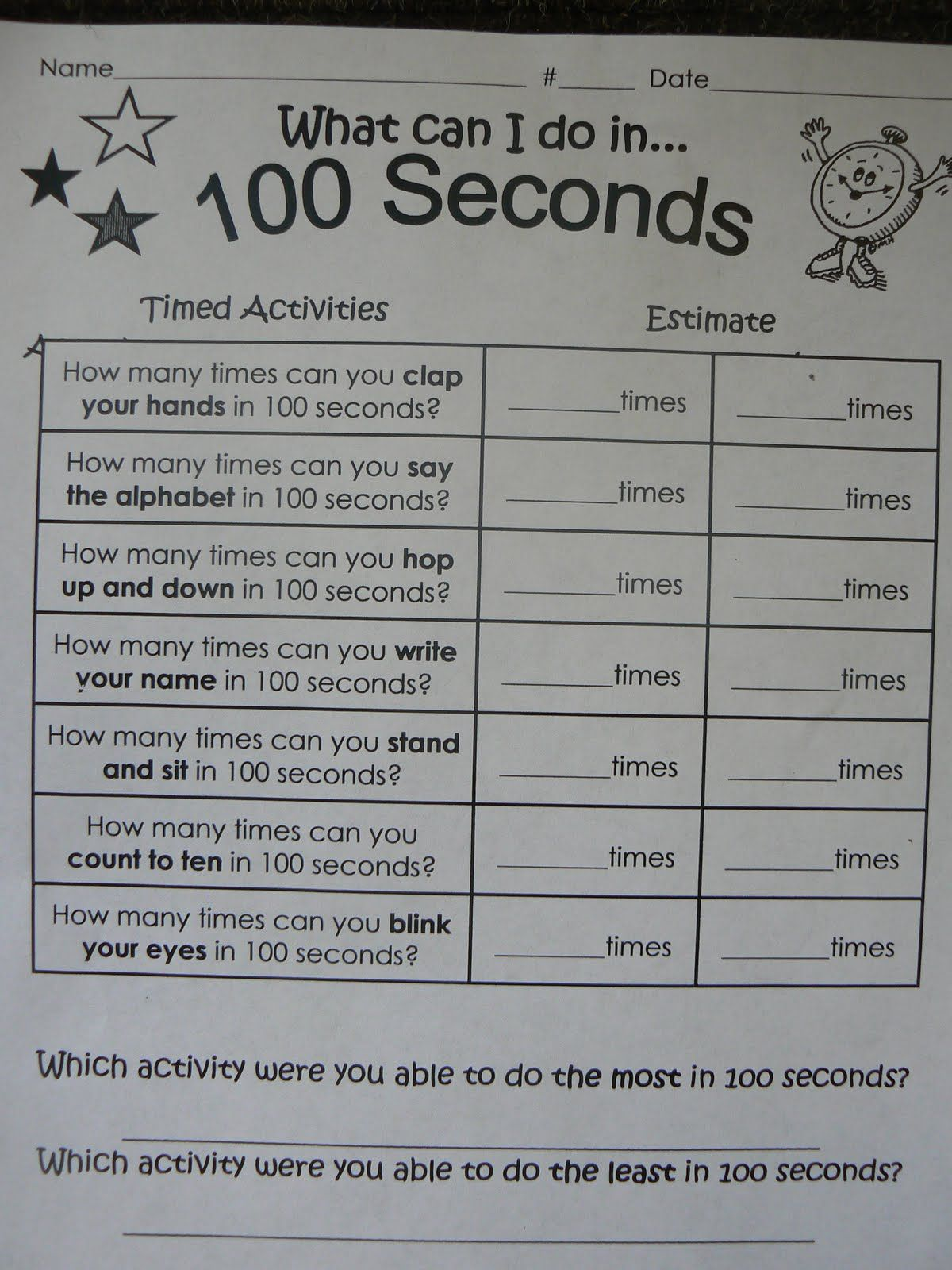 100th Day Tried This One Year With 5th Graders