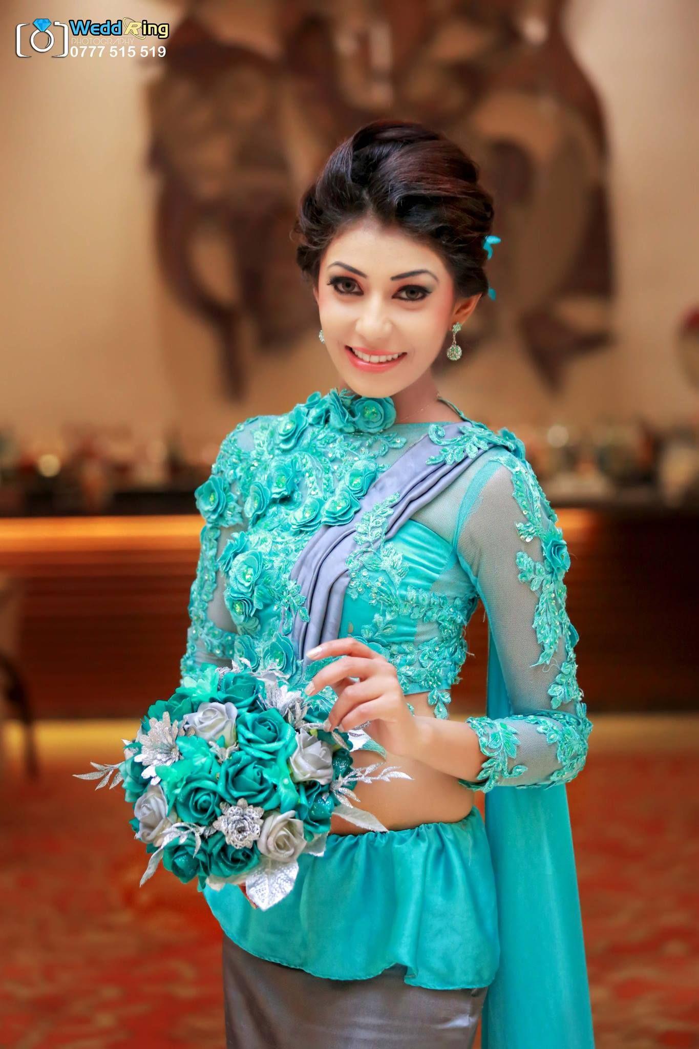 Sri Lankan bridesmaid Saree B♥S Pinterest Saree