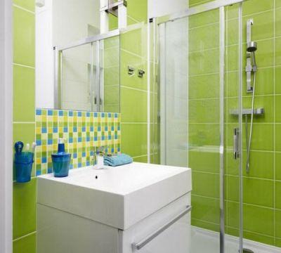 waschbecken unterschrank grüne badezimmer fliesen ideen modern