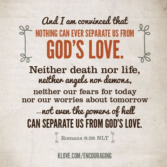 Romans 8:38. Not even perpetrating terror attacks can separate a person from Christ. Image via Pinterest.