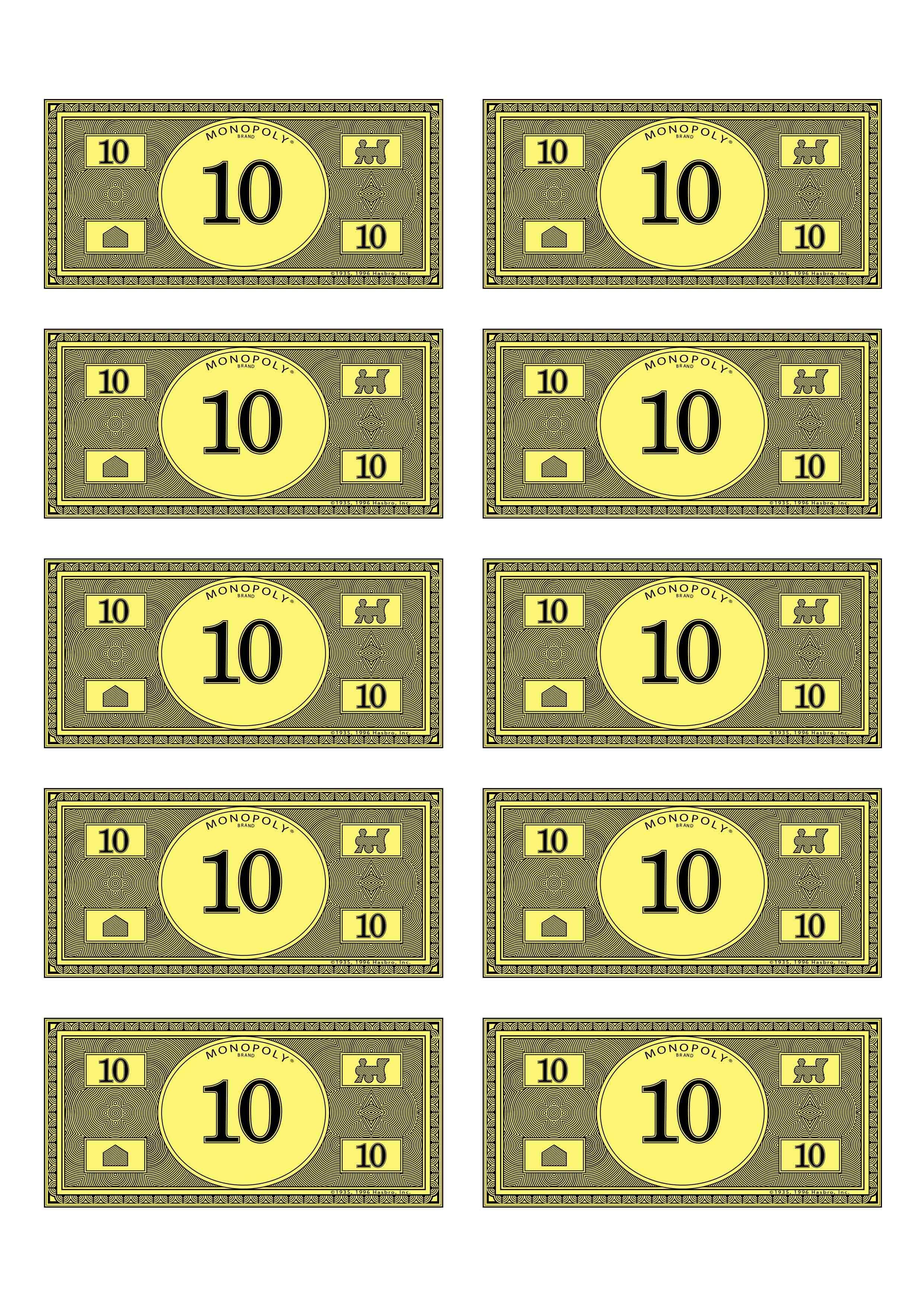 Monopoly Money 10