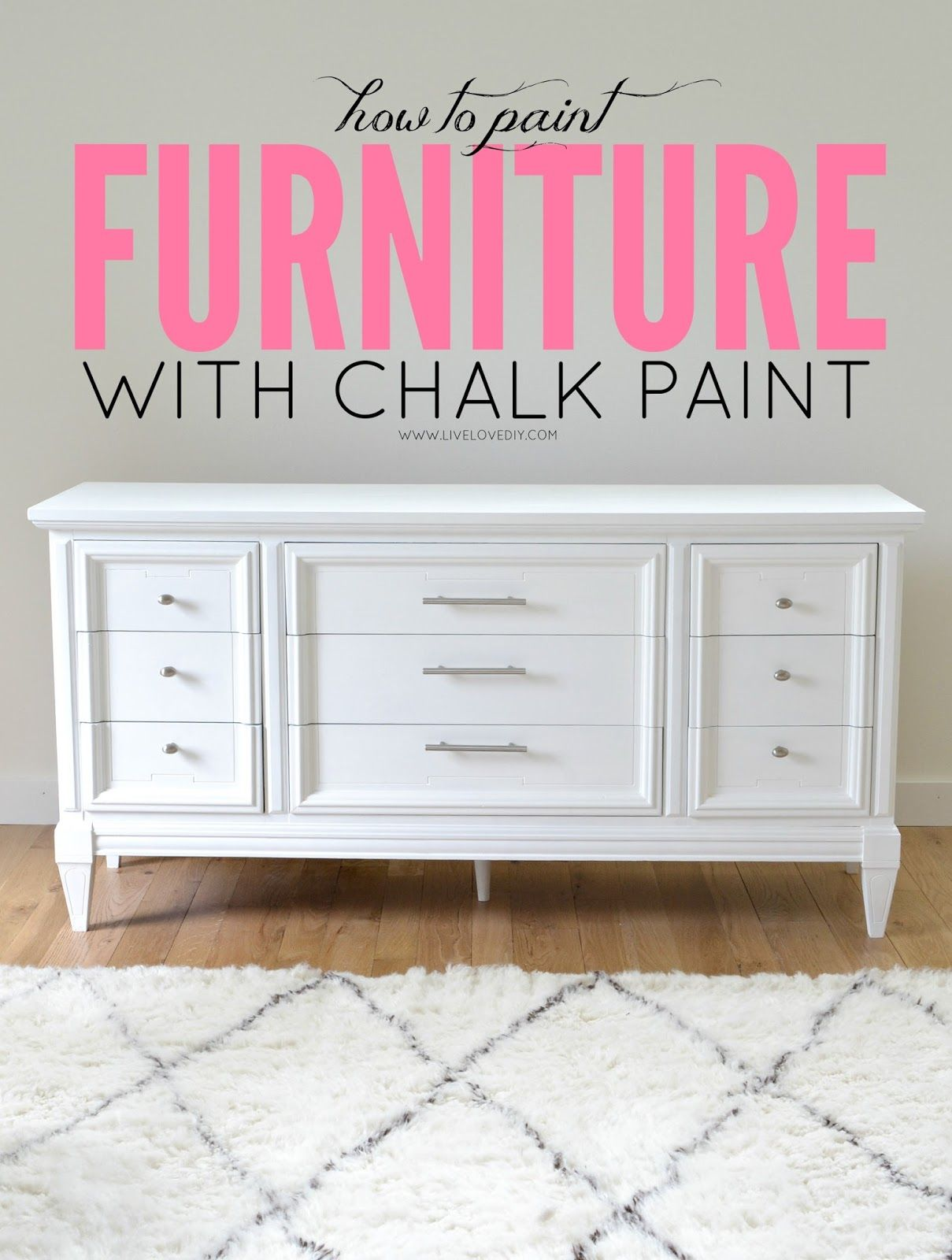 How To Paint Furniture with Chalk Paint (and how to