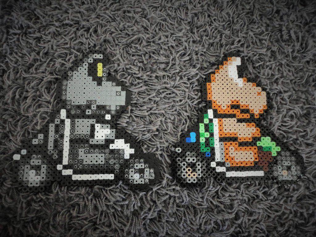 Hama Mario Kart Dry Bones And Koopa Troopa By Greenformanviantart On Deviantart