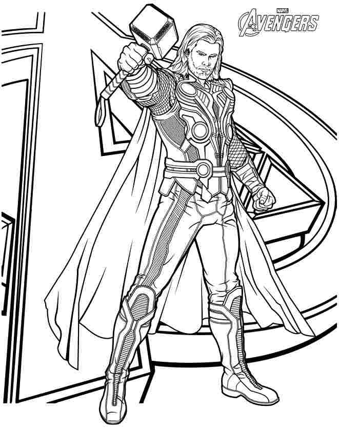 Thor Angers Coloring Pages