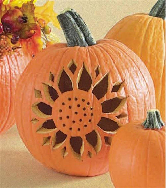 DIY Pumpkin Carving Ideas Pumpkin ideas, Sunflowers and