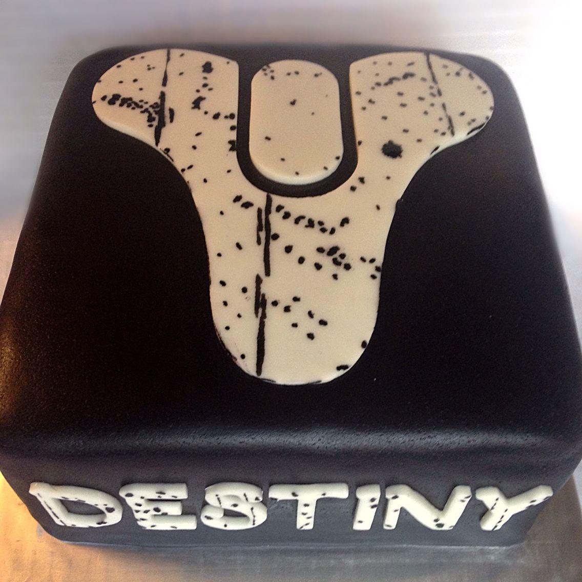 Destiny Video Game Cake