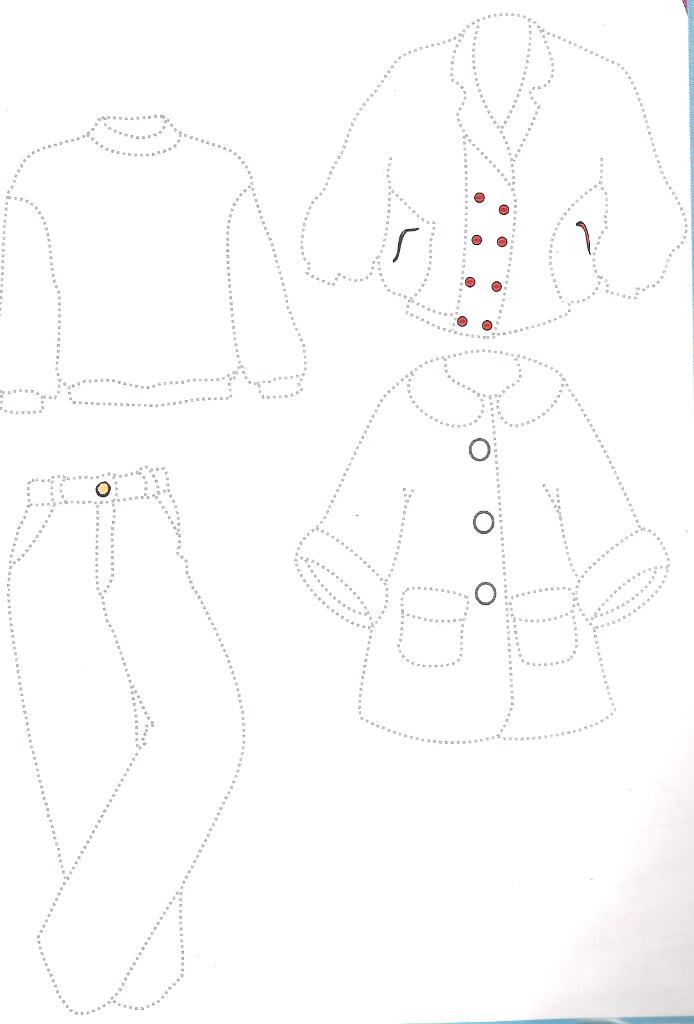 winter clothes trace worksheet Clothes Pinterest