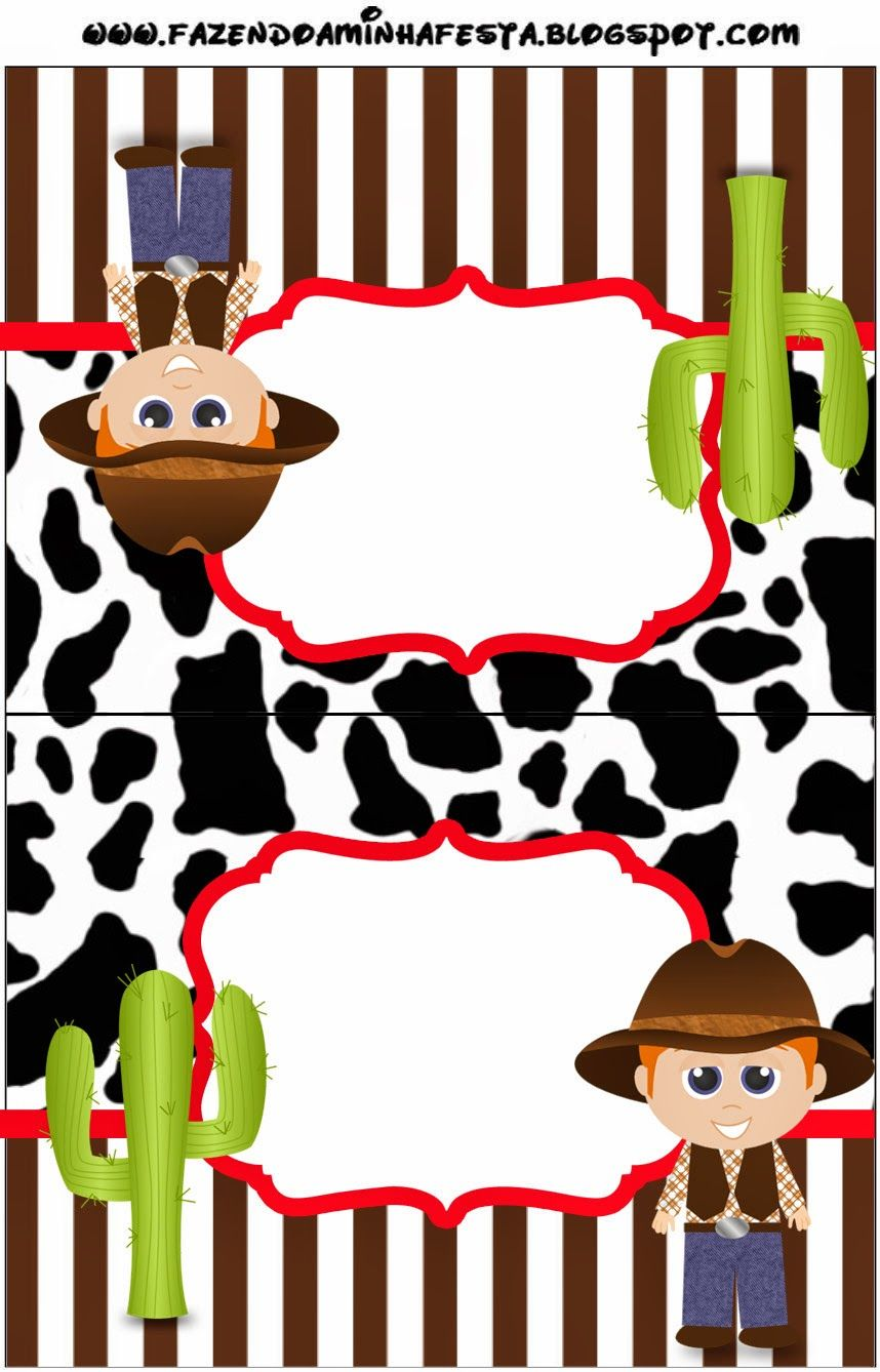 Cowboy or Western Party Free Party Printables. WILD