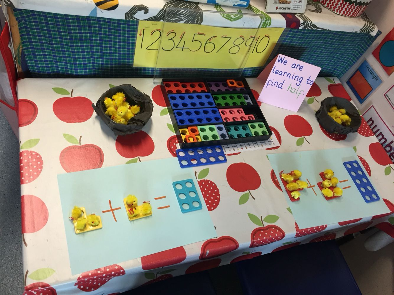Easter Doubling Halving Numicon Maths Activity