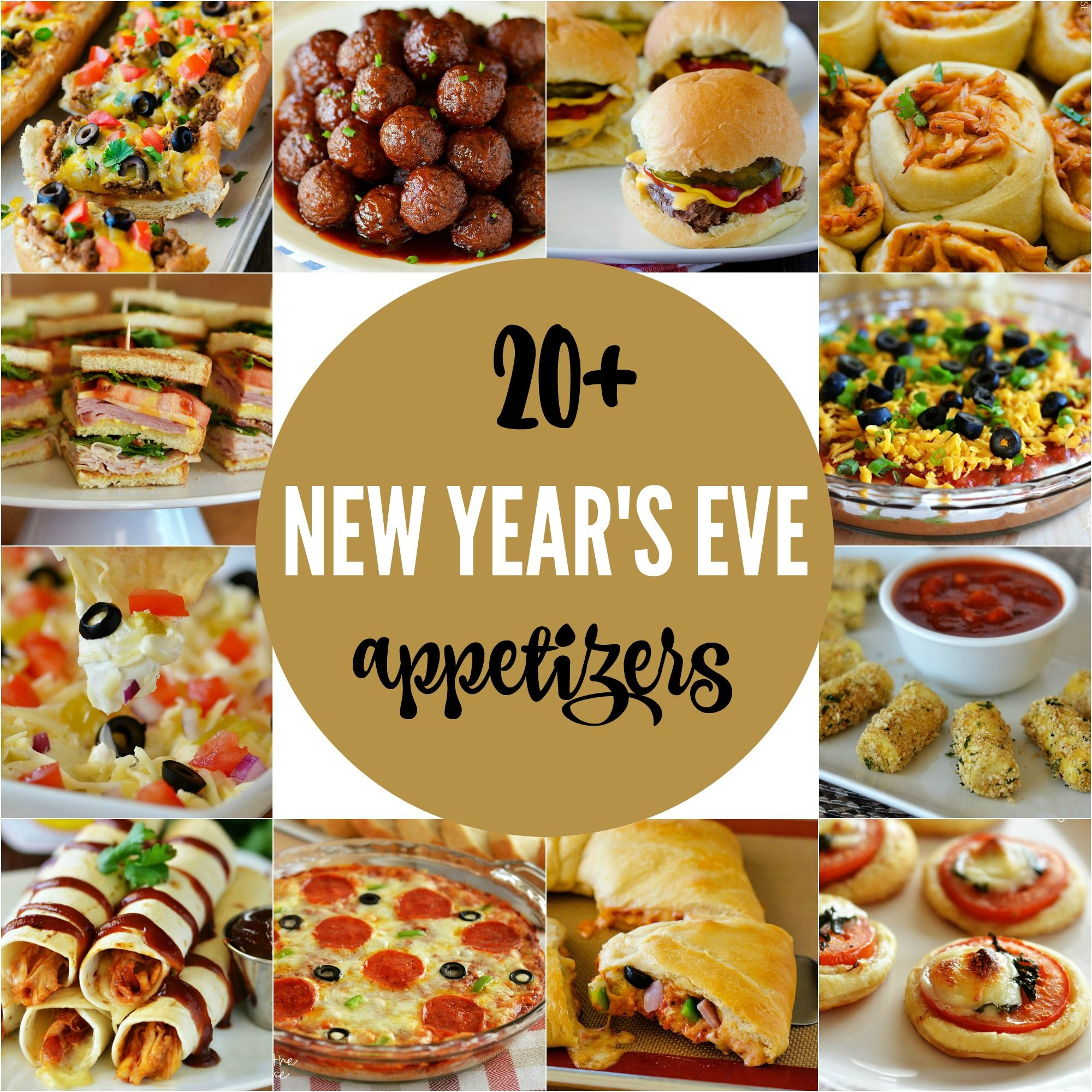 20+ New Year's Eve Appetizers Food, Finger foods and Snacks