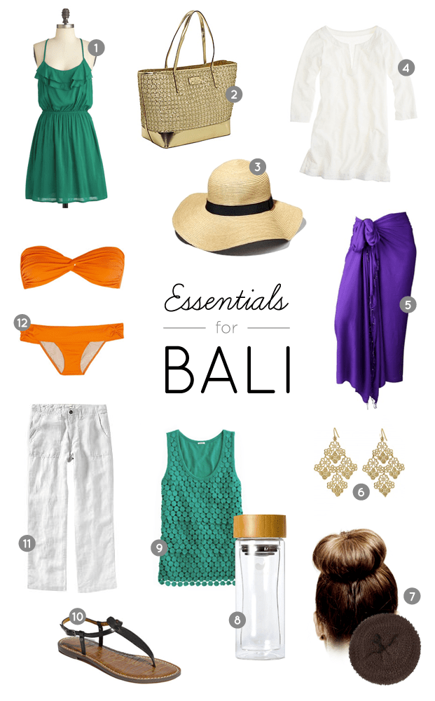 Packing list essentials for Bali, Indonesia. Outfit Envy