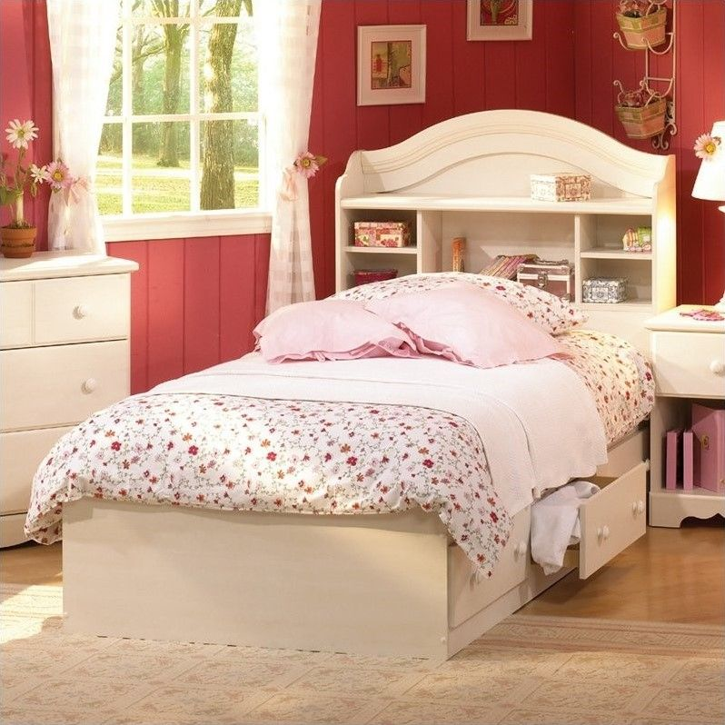 South Shore Summer Breeze Twin Bookcase Headboard and Storage     South Shore Summer Breeze Twin Bookcase Headboard and Storage   beautiful  bed for a girl s room