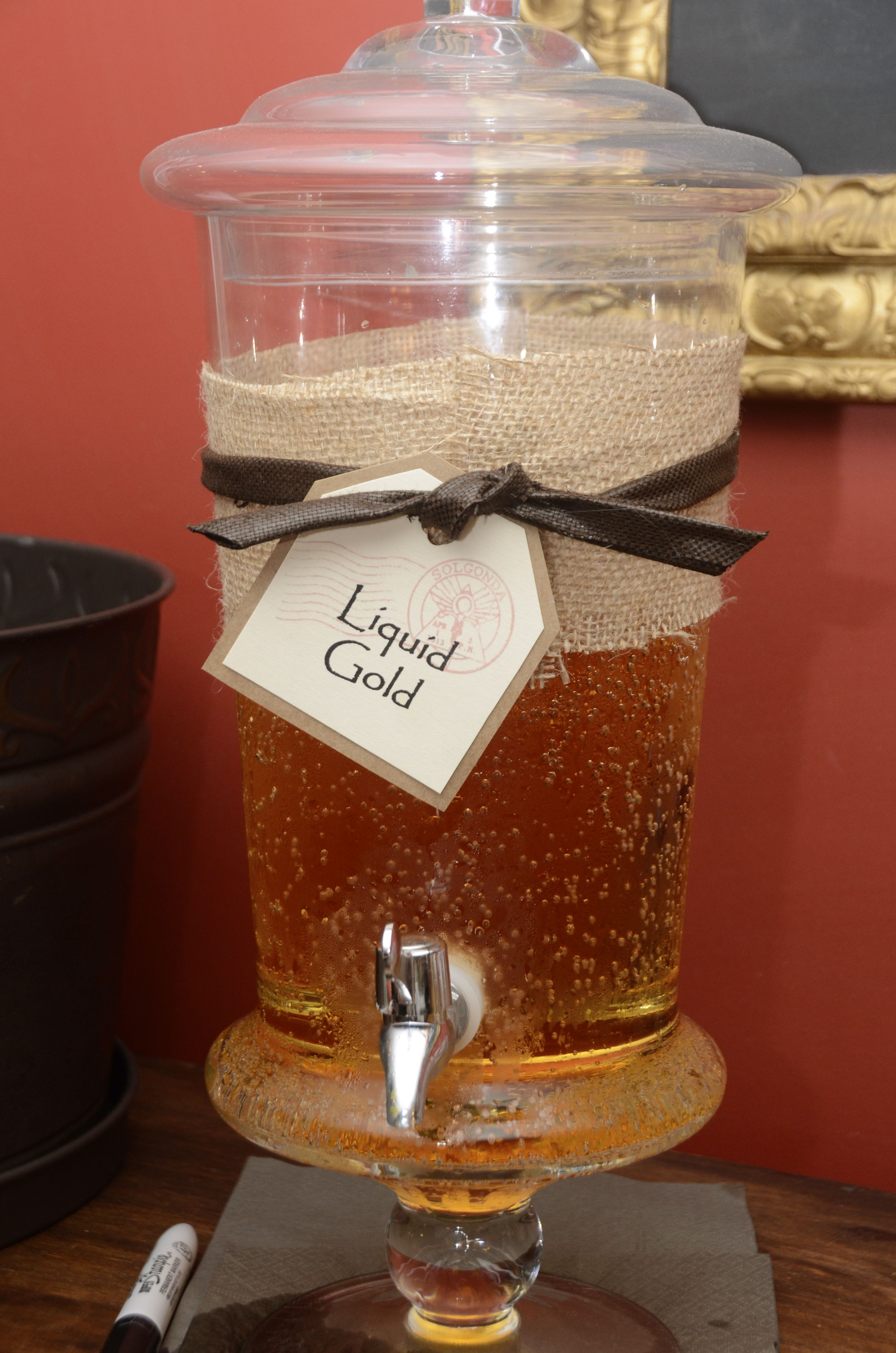 Indiana Jones Party food; Liquid Gold Punch. 1 Ginger Ale