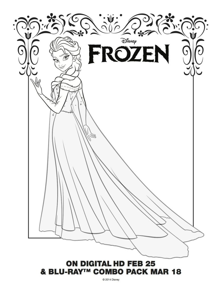 elsa coloring pages - free large images | coloring pages