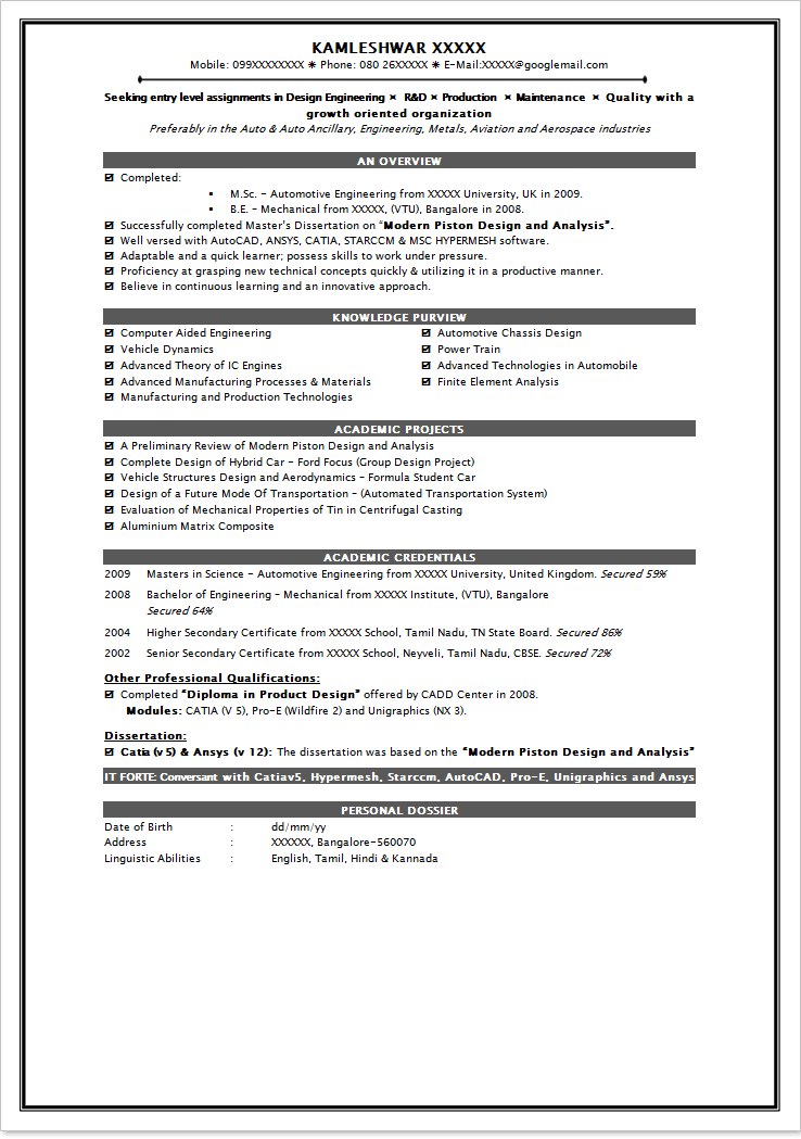 Top 10 Resume Format For Engineers. Resume Examples Top 10