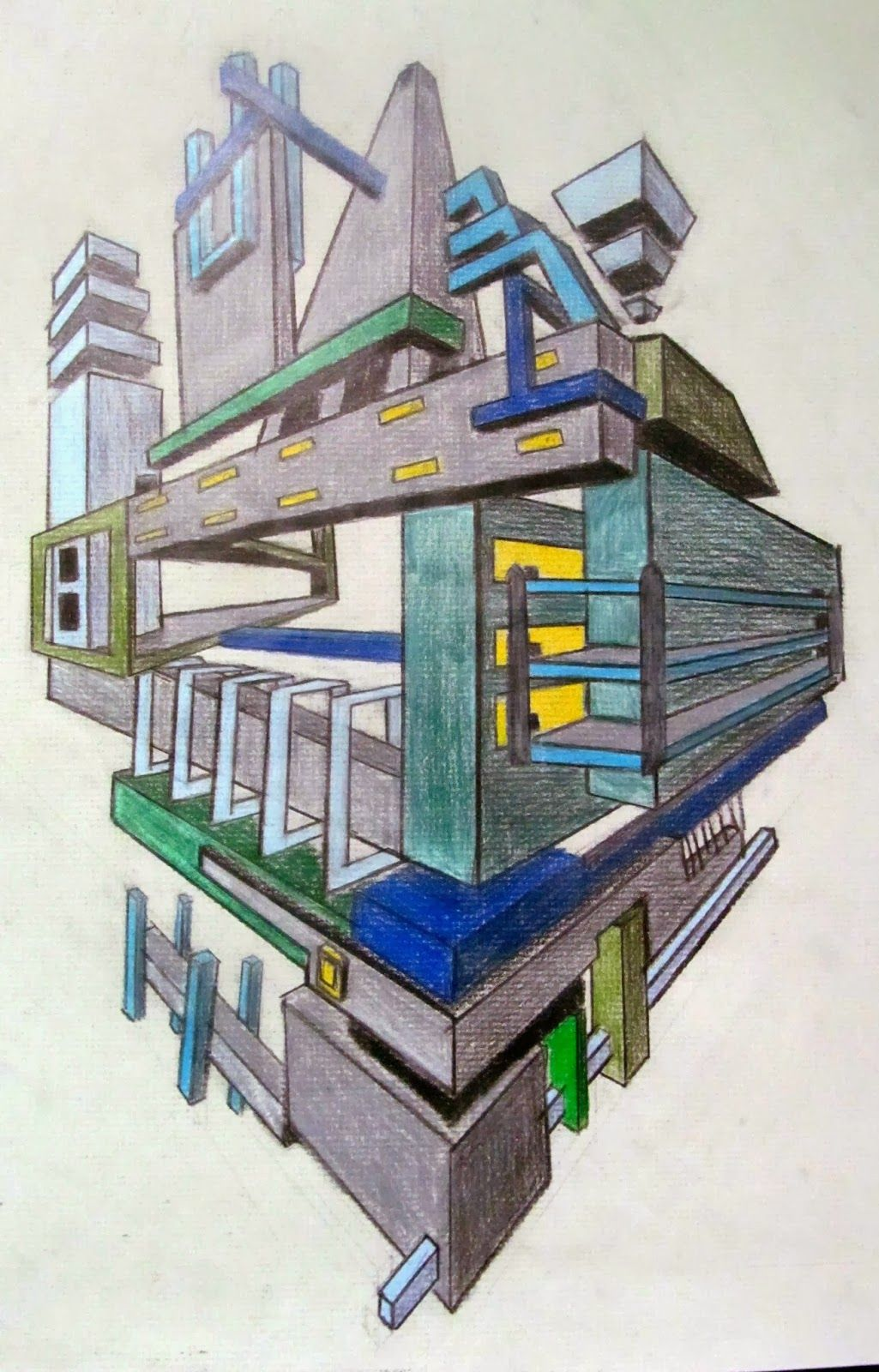 Ms Eaton S Phileonia Artonian Space Museums 2 3 Point Perspective Drawings Art