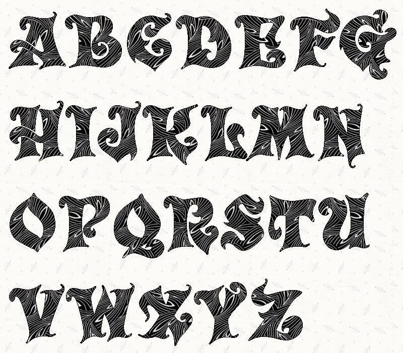 Alphabet Carousel 3 inch Stencil Printable stencils
