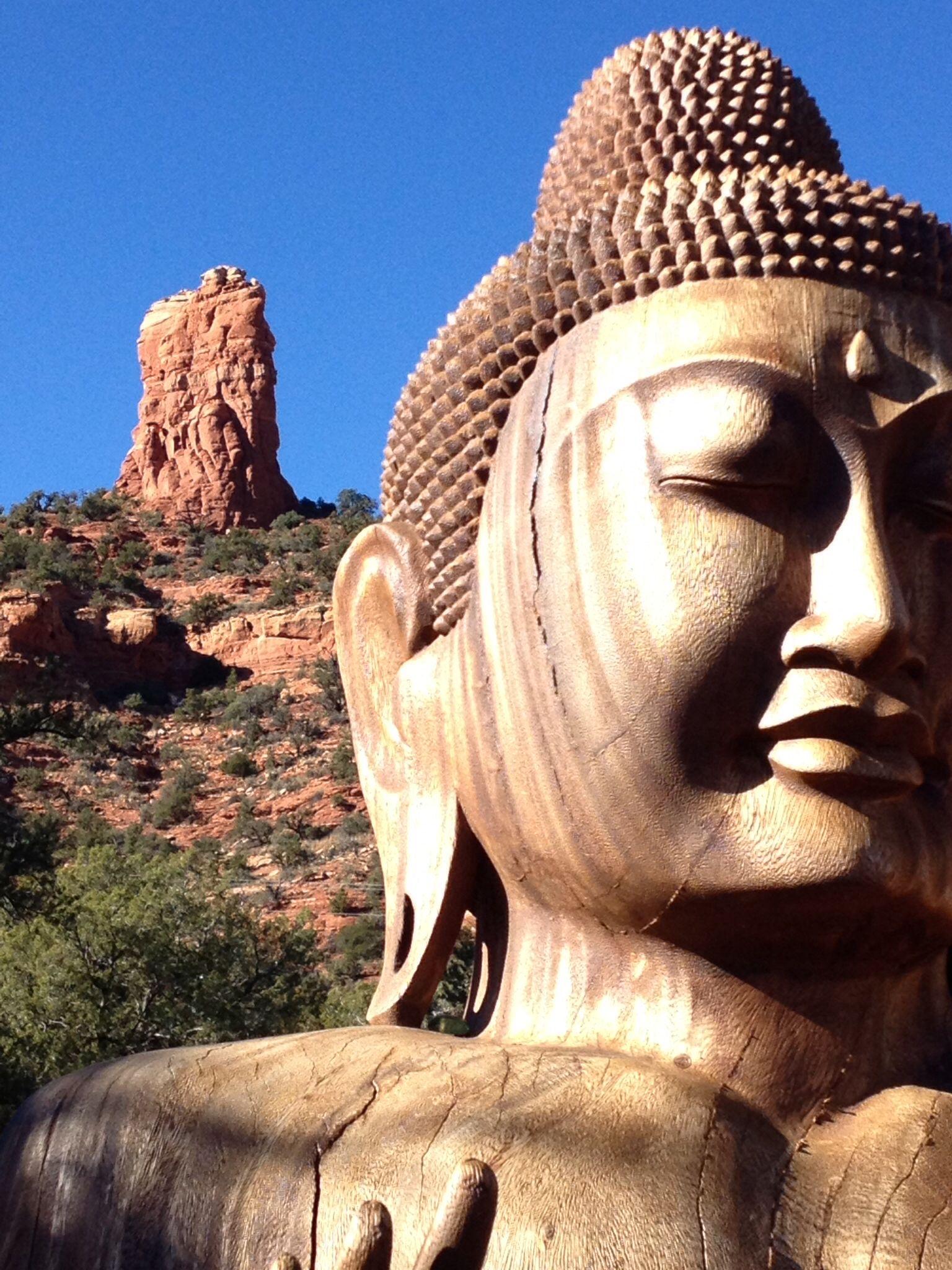 Red Rock Buddha at Buddha Beach Sedona Arizona