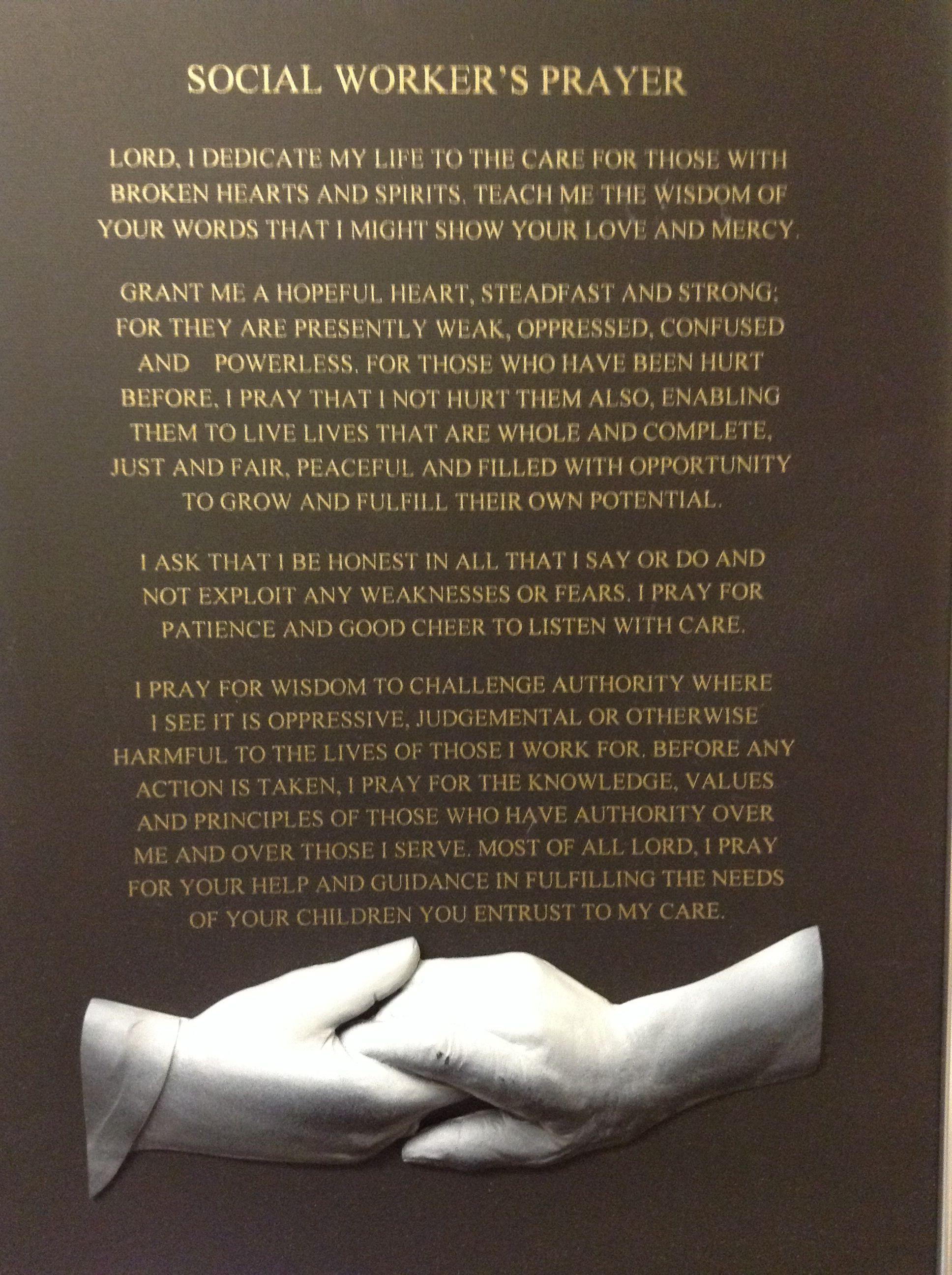 Social Worker's Prayer S.w. Pinterest Beautiful
