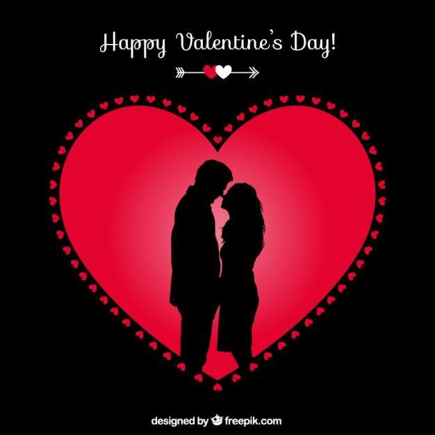 Happy Valentines Couple Card Freepik Romantic Pin 66